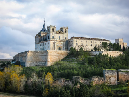 Image of a Monastery at Ucles, Castilla la Mancha, Spain photo