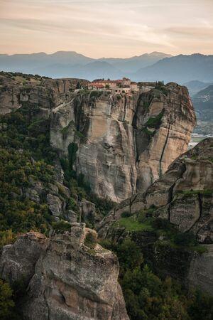 trinity: Image of monastery of Holy Trinity  in Meteora, Greece Stock Photo