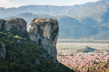 Image of monastery of Holy Trinity  in Meteora, Greece Stock Photo