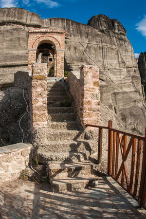 Image of monastery of St. Nikolas in Meteora, Greece