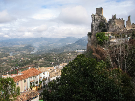 rare rocks: Image of an Ancient castle on the rock, La Iruela, Andalusia, Spain