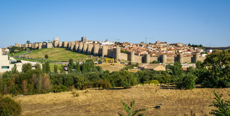 Panoramic cityscape at Avila, Castilla y Leon, Spain photo
