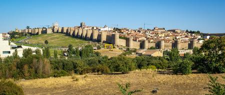 castilla y leon: Panoramic cityscape at Avila, Castilla y Leon, Spain