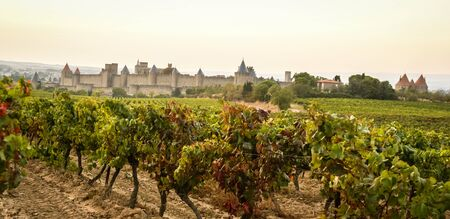 Image of a medieval town, Carcassonne, South France Stock Photo
