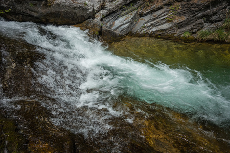 olimpo: Pintoresco r�o con cascadas en el monte Olimpo, el norte de Grecia