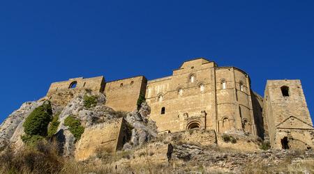 aragon: Image of Loare castle, Huesca, Aragon, Spain Editorial