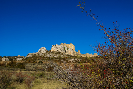huesca: Image of Loare castle, Huesca, Aragon, Spain Editorial