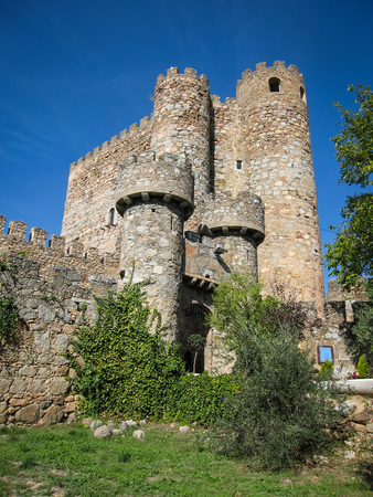 castilla y leon: Image of Coracera castle, San Martin de Valdeglesias, Avila, Castilla y Leon, Spain