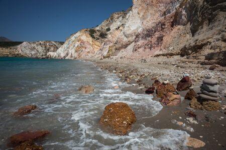 beautiful rare: Beautiful and rare natural colors of Firiplaka beach, Milos, Greece