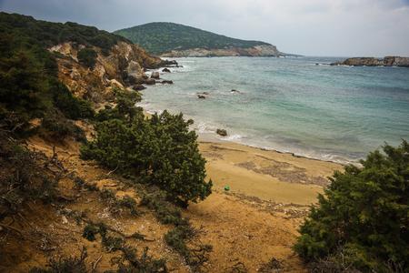 sporades: Scenic seascape at skiros, Nothern Sporades, Greece Stock Photo