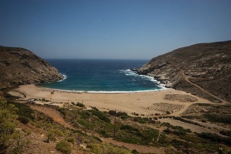 andros: Image of zorkos beach on Andros island, Greece