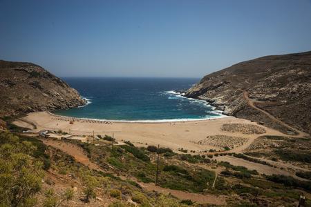 andros: Image of zorkos beach on Andros island, Greece
