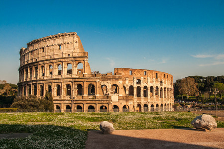 Scenic view of ruines of Colloseum, Rome, Italy Stock Photo