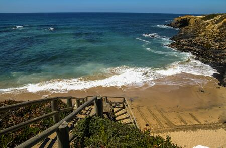 nova: Scenic seascape at Vila nova de Milfontes, Portugal Stock Photo
