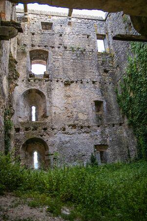 Image de ruines d'une ancienne à Ourem, Portugal Banque d'images - 43809982