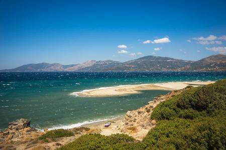 Greece: Image of a beautiful Golden sand beach, Evia, Greece