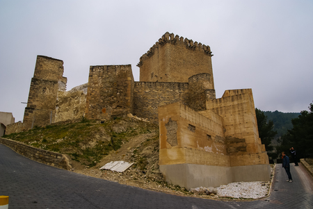 murcia: Ruins of a castle at Moratalla, Valencia y Murcia, Spain Stock Photo