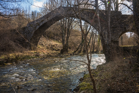 rare rocks: Image of ancient Stone bridge, Zagorohoria, Greece