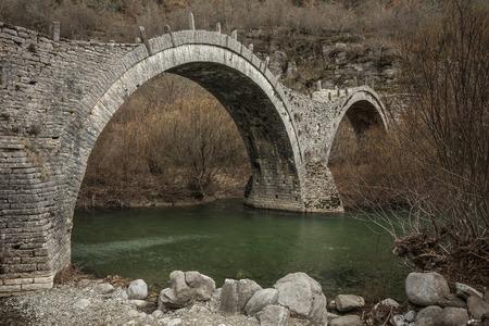 rare rocks: Image of Kologeriko stone bridge, Zagorohoria, Greece