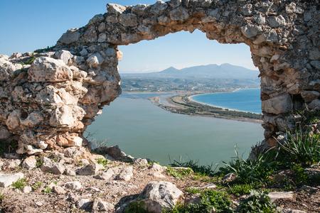 peloponnesus: Ruins of the old Navarino castle, Peloponnese, Greece