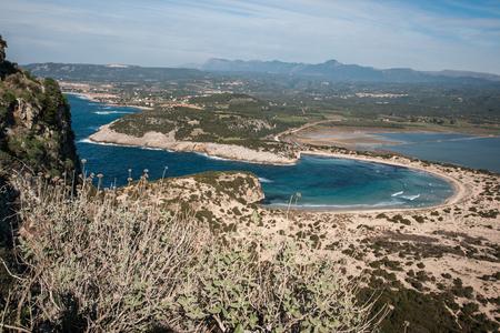 peloponnesus: Image of  beautiful Voidokila bay, Peloponnesus, Greece Stock Photo