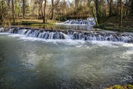 aragon: Image of Waterfalls at Monasterio de Piedra, Zaragoza, Aragon, Spain