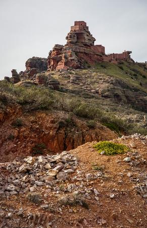 aragon: Image of Peracence castle, Teruel, Aragon, Spain Stock Photo