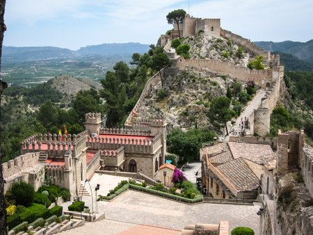 murcia: Ruins of a castle at Jativa, Valencia y Murcia, Spain Stock Photo