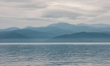 vastness: Scenic cloudy landscape with Lake Baikal, Russia