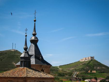 mancha: Cityscape at Jadraque, Castilla la Mancha, Spain