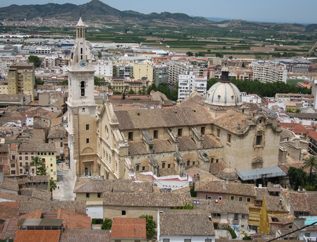 murcia: Cityscape at Jativa, Valencia y Murcia, Spain