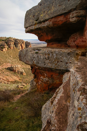 aragon: Landscape with strange rock formations at Peracence, Teruel, Aragon, Spain