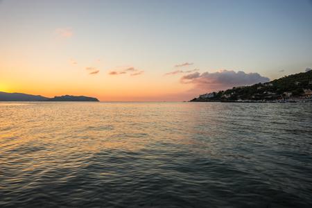 scala: Seascape at dawn near Scala, Agistri,  Greece