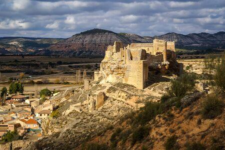 castilla la mancha: Ruins of Zorita castle, Castilla la Mancha, Spain Stock Photo