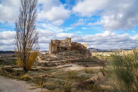 mancha: Ruins of Zorita castle, Castilla la Mancha, Spain Stock Photo