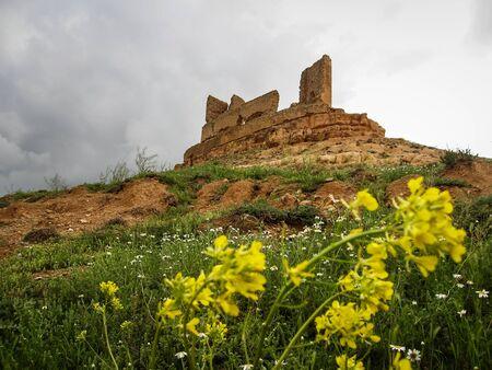 castilla la mancha: Ruins of Montuenga castle, Castilla la Mancha, Spain Stock Photo