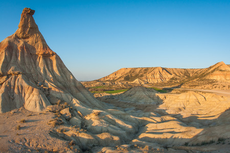 an unusual: Unusual and unique landscape at Bardenas reales, Navarra, Spain
