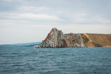 vastness: Cloudy day at the Lake Baikal, Russia