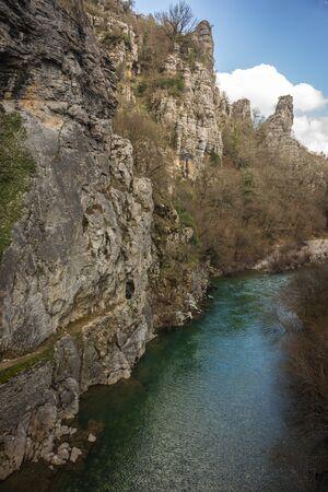 rare rocks: Image of Kokoris stone bridge, Zagorohoria, Greece