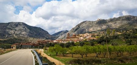 aragon: Image of a city at Molinos, Teruel, Aragon, Spain