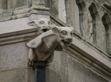 architectural details: Architectural details of Cathedral at Amiens, France