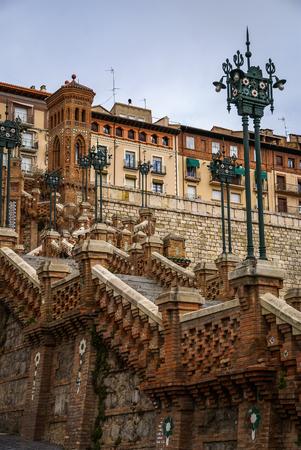 aragon: Image of a staircase, Teruel, Aragon, Spain Stock Photo