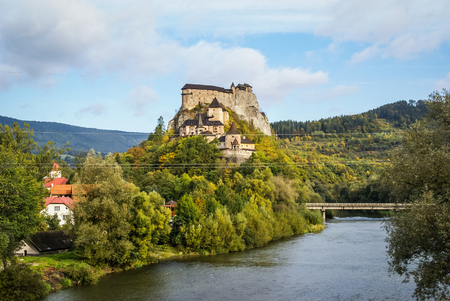 Image of a Castle in Orava, Slovakia Stock Photo