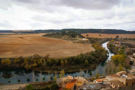 castilla la mancha: Landscape near Zorita castle, Castilla la Mancha, Spain Stock Photo