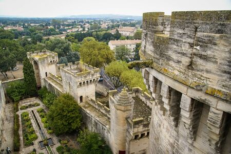 architectural details: Urban landscape and architectural details in Tarascon, France