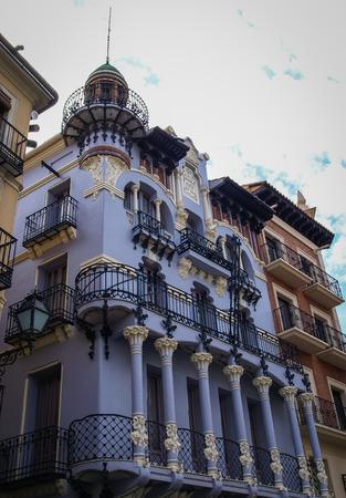 aragon: Details of cityscape at Teruel, Aragon, Spain