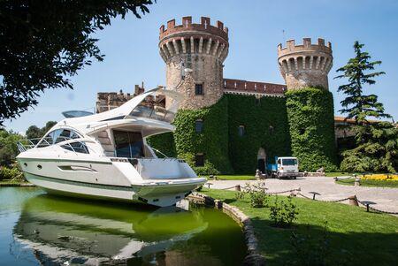 Scenic image of Castillo Peralada, Catalonia, Spain Banco de Imagens