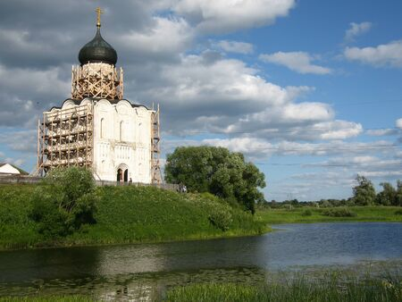 nerl: Image of Church of the Intercession on the River Nerl. Inscribed in the Wold Heritage List of UNESCO
