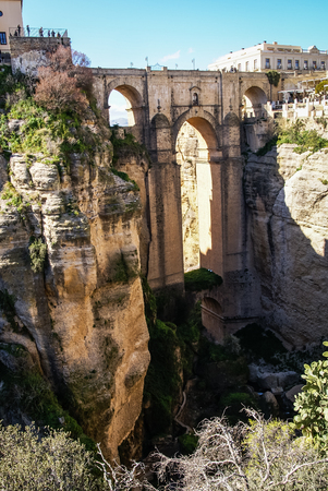 ronda: Image of Old bridge at Ronda, Andalusia, Spain