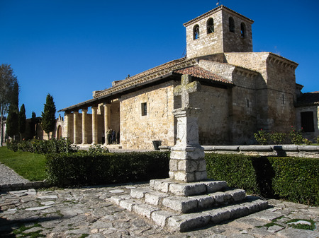 castilla y leon: Little church at Vamba, Valladolid, Castilla y Leon, Spain Stock Photo